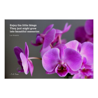 Purple lilac mauve orchid, inspirational quote poster