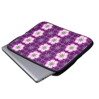 Purple lilac pink floral sakura pattern computer sleeve