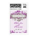 Purple Lilac Vintage Floral Wedding Postage