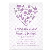 Purple Lilac Wedding Couple Shower | Kitchen Custom Invitations
