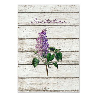 Purple Lilac wildflower floral country wedding Card