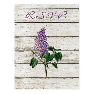 Purple Lilac wildflower floral country wedding Postcard
