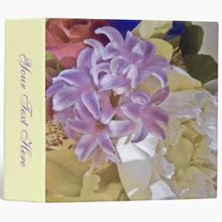 Purple Lilac Yellow Wedding Photo Album Vinyl Binders