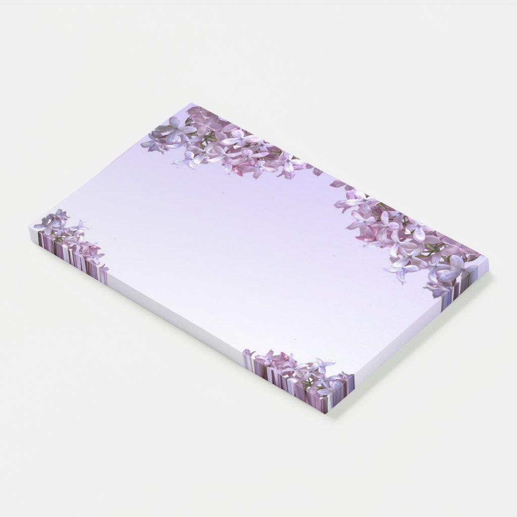 Purple Lilacs Garden Flowers Jumbo Post It Note
