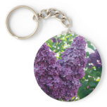 Purple Lilacs Keychain