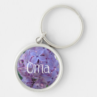 Purple Lilacs Oma Keychain