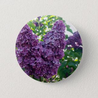 Purple Lilacs Round Button