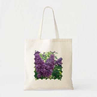 Purple Lilacs Small Canvas Bag