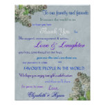 Purple Lilac's Wedding Thank You Poster