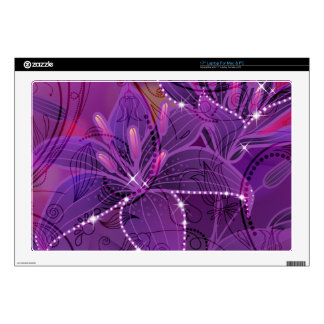 Purple Lili Dreams Flower Design Laptop Skins
