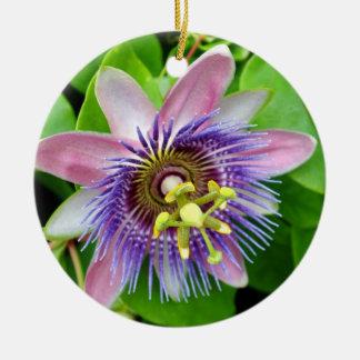 Purple Lilikoi Passion Flower Christmas Ornament