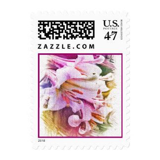 Purple Lillies Postage
