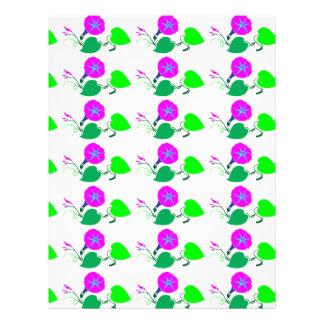 Purple Lilly Flower n Leaf Letterhead