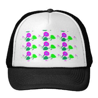 Purple Lilly Flower n Leaf Trucker Hat