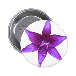 Purple Lily 2 Inch Round Button