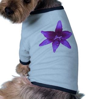 Purple Lily Dog T Shirt