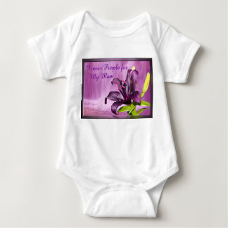 Purple Lily with Waterfall Baby Bodysuit