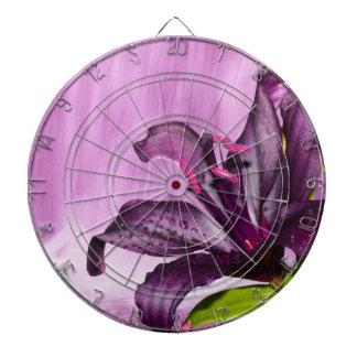 Purple Lily with Waterfall Dartboard With Darts