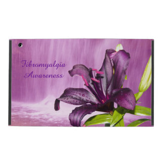Purple Lily with Waterfall iPad Cases