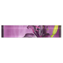 Purple Lily with Waterfall Name Plate