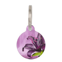Purple Lily with Waterfall Pet ID Tag