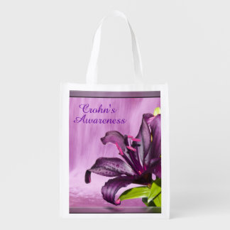 Purple Lily with Waterfall Market Tote