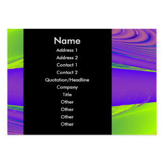 Purple, Lime Green and Orange Fractal Design. Business Card