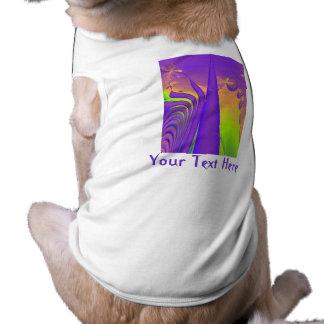 Purple, Lime Green and Orange Fractal Design. Dog T Shirt