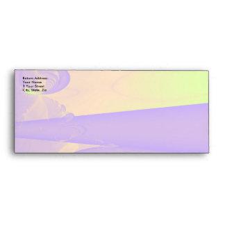 Purple, Lime Green and Orange Fractal Design. Envelope
