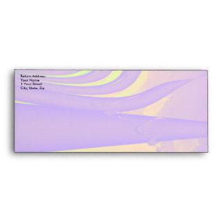 Purple, Lime Green and Orange Fractal Design. Envelopes