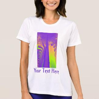 Purple, Lime Green and Orange Fractal Design. T-shirts