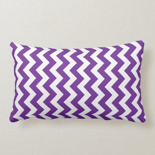 Purple & Lime Green Chevron Reversible Pillow