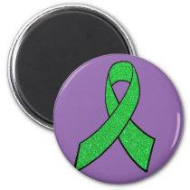 Purple & Lime Green Lyme Disease Awareness Magnet
