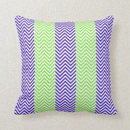 Purple and green striped throw