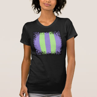 Purple Lime Green Striped Chevron Summer Zig Zags T Shirts