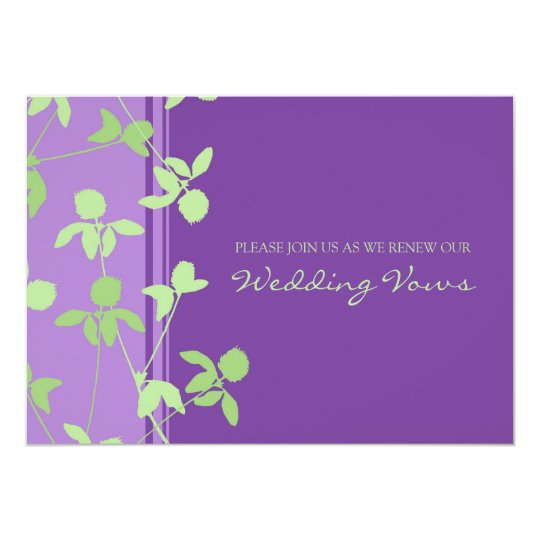 Purple Lime Wedding Vow Renewal Invitations Zazzle Com