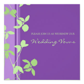 Purple Lime Wedding Vow Renewal Invitations
