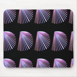 Purple Line Art Beach Seashell Design Mouse Pad