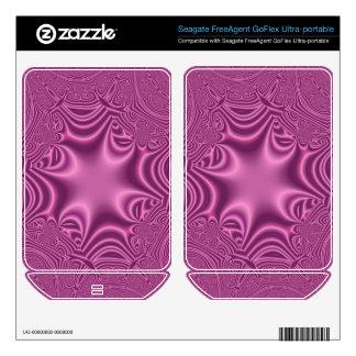 Purple line cross pattern FreeAgent GoFlex decal