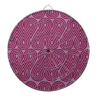 Purple Line Drops Dartboard With Darts