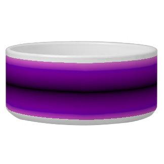 Purple line pattern bowl