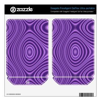 Purple line Pattern FreeAgent GoFlex Skins