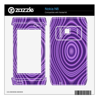 Purple line Pattern Skin For The Nokia N8
