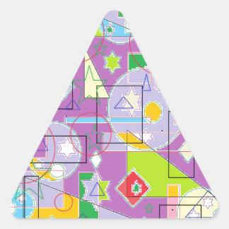 Purple Line Triangle Sticker