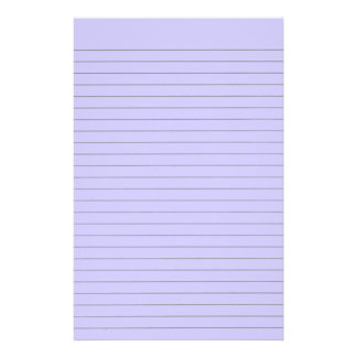 Purple Lined Stationery Personalized Stationery