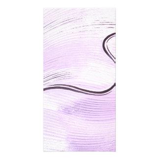 Purple Lines Art Photo Card
