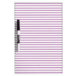PURPLE lines stripe pattern :  Option ADD TEXT IMG Dry-Erase Whiteboard