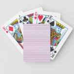 PURPLE lines stripe pattern :  Option ADD TEXT IMG Bicycle Poker Deck
