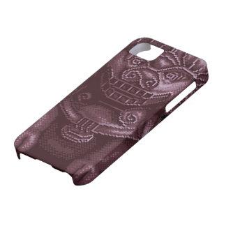 Purple Lion Dog Pixel Art iPhone 5 Cases