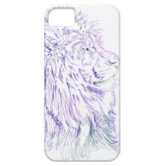 Purple Lion ~ iPhone 5/5S Case